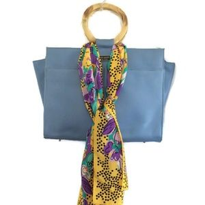 Honey Silk Yellow Floral Oblong Scarf